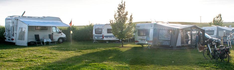 Camping auf dem Weingut